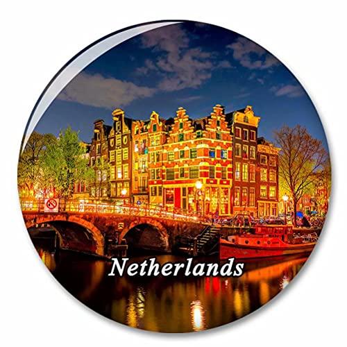 Holanda Puente Amsterdam Imán de Nevera, imánes Decorativo, abridor de Botellas, Ciudad turística, Viaje, colección de Recuerdos, Regalo, Pegatina Fuerte para Nevera
