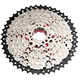 Liadance MTB Engranaje de una Bicicleta Cassette 11-46t 8 velocidades Amplia Relación de Bicicletas Piñón Parte Accesorio de Plata