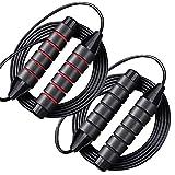 Cuerda de Saltar para Hacer Ejercicio, Paquete de 2 Cuerdas de Salto de Velocidad Ajustable, con...