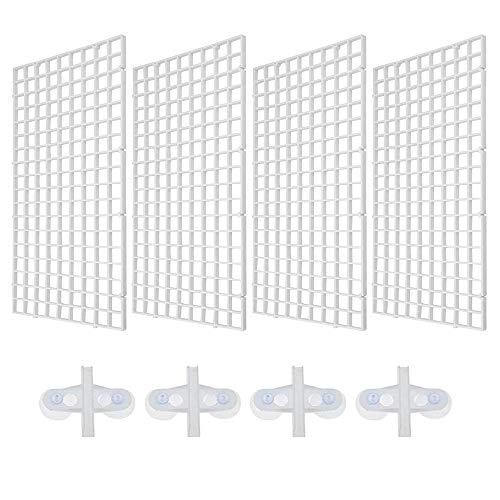 4 Piezas Bandeja Separadora para Acuario,Tablero de Segregación con Abrazaderas para Acuario Bandeja de Separador de Acuario (Blanco)