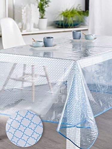 Calitex bohal tafelkleed transparant rechthoekig Curacao 140 x 250 cm