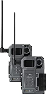 SPYPOINT LINK-MICRO-LTE TWIN PACK of Cellular Trail Cameras 10MP with Low-Glow LEDs for Quality Nighttime Photos, 80' flas...