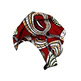Xinvivion Pañuelo de Estampado de Algodón de cera Africana para Mujer - Cintas para la Cabeza Turbantes Hijab Envoltura de Cabello...