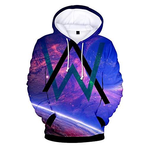 Kapuzenpullover,Unisex Music Singer Alan Theme Sweatshirt Youth Long Sleeve Hoodie Pullover Casual Pullover Couple Top, Walker, S