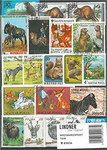 Lindner Briefmarkenpaket 89836: Tiere (100 Briefmarken)