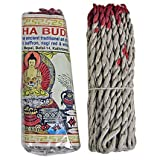 Tibetan Amitabha Buddha Rope Incense, 3.5' Length - 3 Packs, 45 Sticks Per Pack