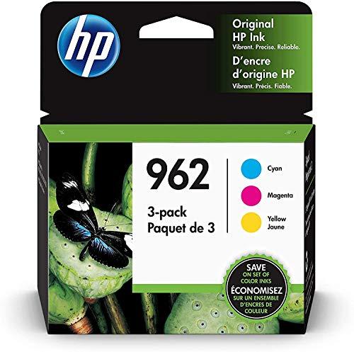 HP 962 | 3 Ink Cartridges | Cyan, Magenta, Yellow | 3HZ96AN, 3HZ97AN, 3HZ98AN, Black