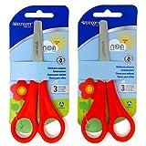 2 x Childrens Kids Right Handed Scissors with Ruler Edge WESTCOTT Branded