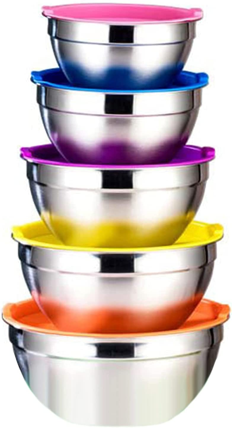 Mixing Manufacturer regenerated product Bowl with Lid Stainless Factory outlet Steel Salad Bowls Kitchen St Food