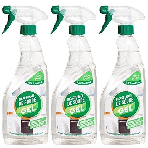 Clean Expert–Lote de 3bicarbonato de sodio Gel 750ml