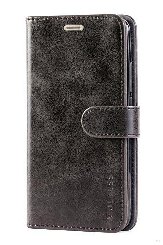 Mulbess Handyhülle für Huawei Mate 10 Hülle, Leder Flip Case Schutzhülle für Huawei Mate 10 Tasche, Schwarz - 4