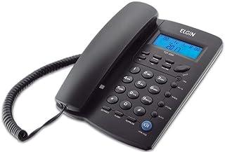 Telefone com Fio de Mesa com Identificador Elgin TCF3000 Preto, Elgin, TCF3000P, Preto