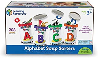 Learning Resources Alphabet Soup Sorters, 208 Pieces