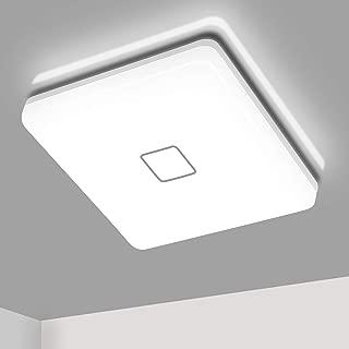 LED Ceiling Lights Flush Mount Square 5000K Cold White Light, Airand 24W Waterproof IP44 2050 Lumens 12.6in Led Light Fixtures Ceiling Lamp for Bathroom Kitchen Bedroom Living Room Corridor
