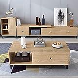 CYQAQ 2020 Nordic Moderna retráctil TV Gabinete de Almacenamiento armarios gabinete de Piso de la Sala de Estar de Muebles, TV Soporte + + Aparador Mesa de café