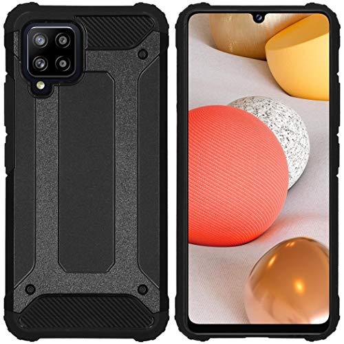 iMoshion kompatibel mit Samsung Galaxy A42 Hülle – Rugged Xtreme Back Cover Schutzhülle – Hard Hülle Handyhülle in Schwarz [Stoßabsorbierend, Dual-Layer Design]