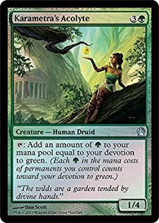 Magic: the Gathering Karametra39;s Acolyte - Holiday 2013 Gift Box Promo - Unique & Misc. Promos - Foil