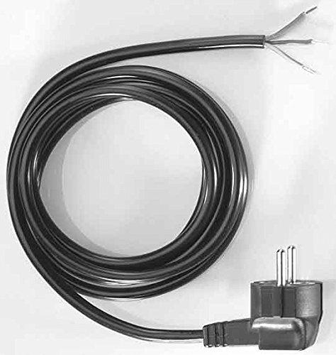 Bachmann 301.174 Schutzkontakt-Zuleitung, Anschlussleitung, schwarz, Länge 2m H03VV-F3G0,75