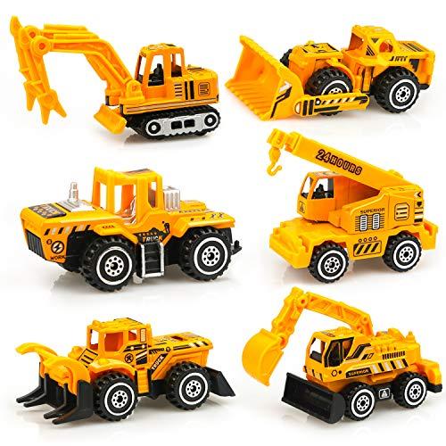 Mini Baustellen Fahrzeuge Metall Bagger Auto Spielzeug Geschenk Set für Kinder 3 Jahre