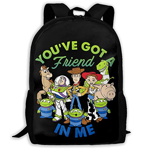 HuangYongHongPODFPO Pixar Toy Story Cartoon School Lightweight Large Capacity Casual Printed Adult Backpack Unisex
