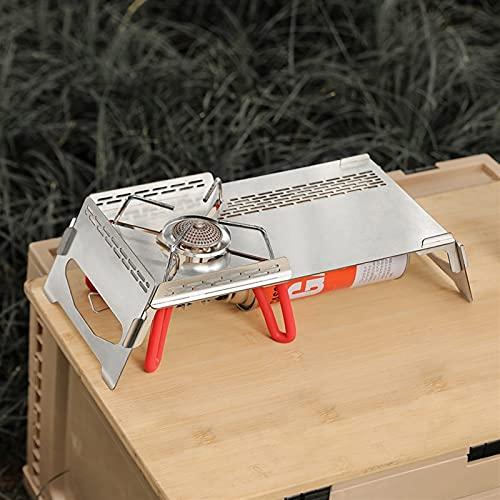 GYXGSTG Estufa de Gas Plegable de Acero Inoxidable Tabla de pie, Parabrisas de Tres Caras, Camping, Escritorio de Almacenamiento de Cocina con Bolsa de Almacenamiento (Color : 1, Size : A)