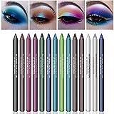 Ownest 14 Colors Eyeliner Eye Shadows Pen, Pearl Eyeliner Kit Metallic Eyeliner Pencil Glitter colorful Eyeliner Women Eye Liner Professional Eye Makeup Set