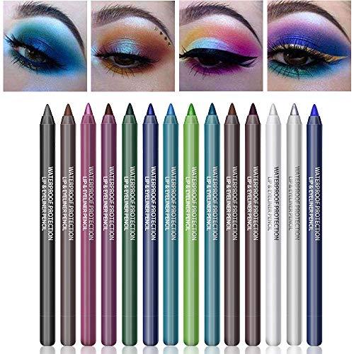 Ownest 14 Colors Eyeliner Eye Shadows Pen, Pearl Eyeliner Kit Metallic...