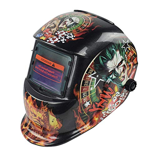 LHL-DD Welding Helmet, Luminous Auto Darkening Welding Mask Solar-Lithium Hood with Adjustable Shade Head Protection for ARC Tig Mig MMA Plasma Cutting Machine in Tools & Home Improvement