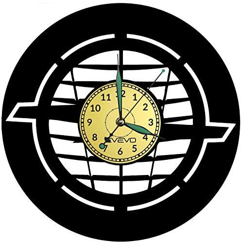 Opel Wanduhr Uhr Vinyl Schallplatte Retro-Uhr groß Uhren Style Raum Home Dekorationen Tolles Geschenk für Freund Man Vinyl Record Kovides Vinyl Home Decor Raum, Inspirierende Wand