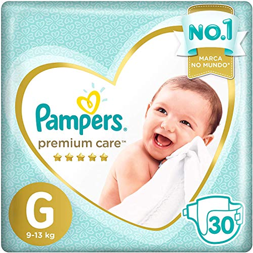 Fraldas Pampers Premium Care G 30 Unidades, Pampers