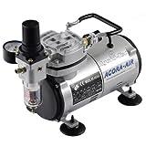 Agora-Tec® Aérographe AT-AC-02 Compresseur pour aérographe 4 bar et 20 l/min avec filtre à condensation et régulateur de pression