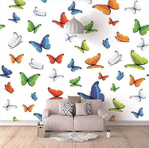 Papel Pintado Mural Imagen Mariposa De Color 450X350Cm Foto Wallpaper Comedor Sala De Estar Sofá Telón De Fondo Pintura De Pared Mural De Pared