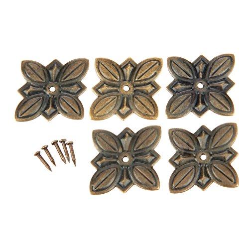 dophee 50pcs 30x 27mm Joyero sofá decorativo de la puerta zapatos clavos para tapicería Vintage