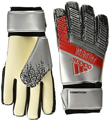 Adidas Predator Competition - Guanti da portiere da calcio, colore argento metallico/nero, 12