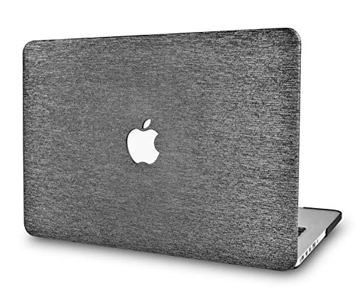 LuvCaseLaptopCaseforOld MacBook Pro 13' Retina Display (2015/2014/2013/2012 Release) A1502/A1425LeatherHardShellCover (Silver Grey Leather)