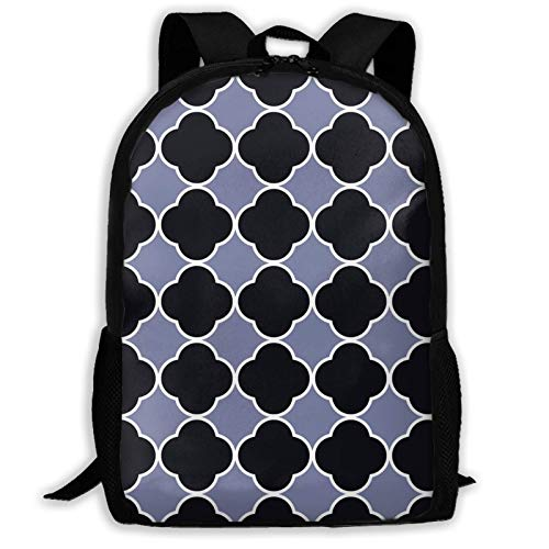 Hdadwy Anime Black Clover Bla Grey Clover Geometric Baground Pattern Ta Backpack Shoulder Bag Travel Bags Laptop Bag School Bag for Boys Girls