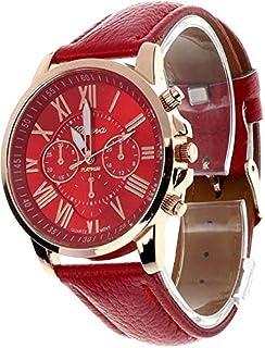 Roman Numerals Quartz Wrist Watch (Red)