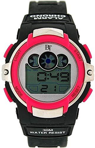 The Olivia Collection Kinder Digital Sport-Chronograph schwarz & pink