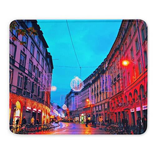 France Place Kleber Strasbourg Tapis de Souris Souvenir Cadeau 7,9 x 9,5 po Tapis en Caoutchouc de 3 mm
