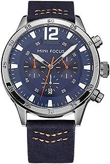 Mini Focus Mens Quartz Watch, Chronograph Display and Leather Strap - MF0006G.03
