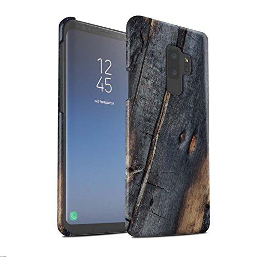 Stuff4 Matte Snap-On Hülle/Case für Samsung Galaxy S9 Plus/G965 / Verbranntem Holz Muster/Baumrinde Kollektion