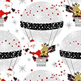 Tovaglioli di carta monouso, Inverno in mongolfiera, 20 pezzi 3 strati - 33 x 33