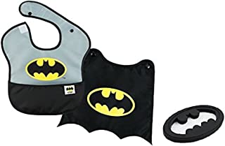 Bumkins DC Comics SuperBib with Cape & Silicone Teether, Batman