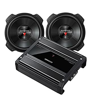 Pair of Kenwood KFC-W3016PS 12  2000 Watt Max Power Subwoofers with an X500-1 Mono Subwoofer Amplifier