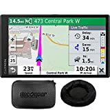 Garmin 010-N2153-00 DriveSmart 65 Premium Navigator w/Amazon Alexa (Renewed) Bundle with Deco Gear Universal Weighted GPS Navigation Dash-Mount for Garmin + Hard EVA Case with Zipper