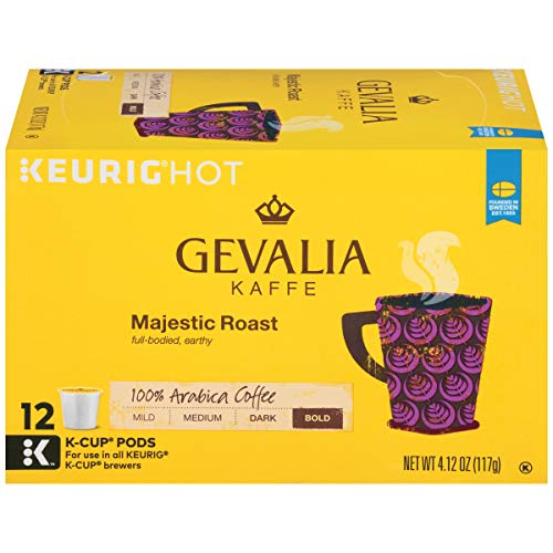 Gevalia Majestic Roast K-Cup Coffee Pods (72 Pods, 6 Packs of 12)