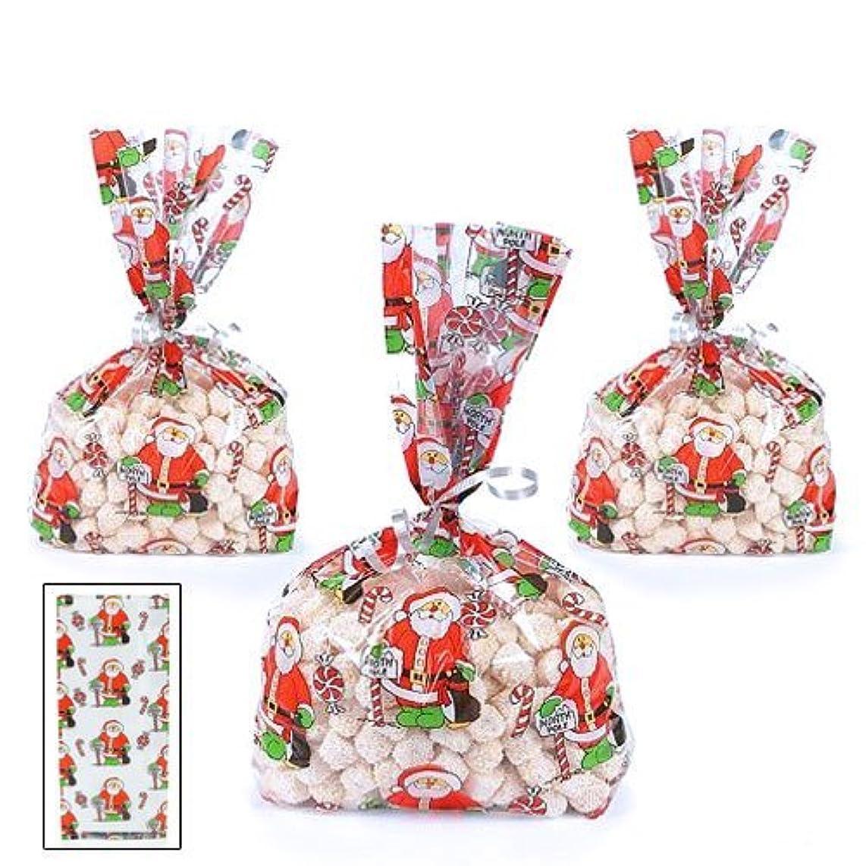 Cellophane Holiday Goody Bags Santa (1 Dozen)