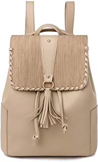 GYYlucky New Ladies Backpacks Trend European and American Style Popular Women's Backpack Amazon New PU Handbag (Color : Apricot)
