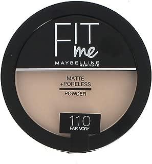 Maybelline New York Fit Me Powder, 110 Fair Ivory, 14 gm