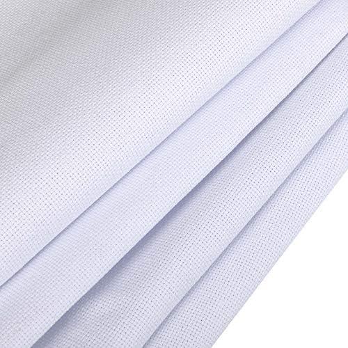 Neeyoo Aida Cloth 59 by 39 Inch Cross Stitch Fabric Classic 14 Count Cross Stitch Aida Cloth product image